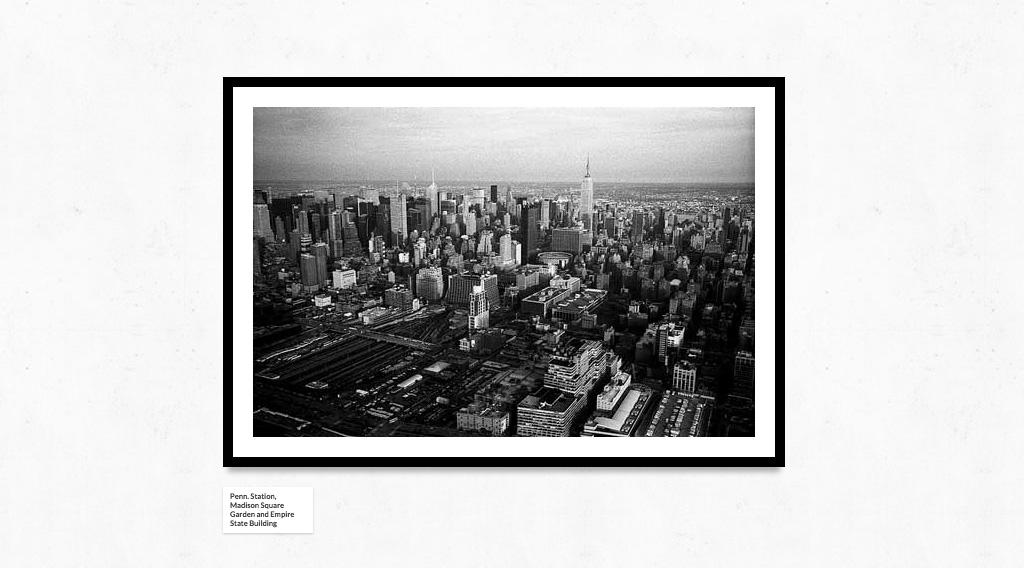 Черно-белая 3D галерея на сайт