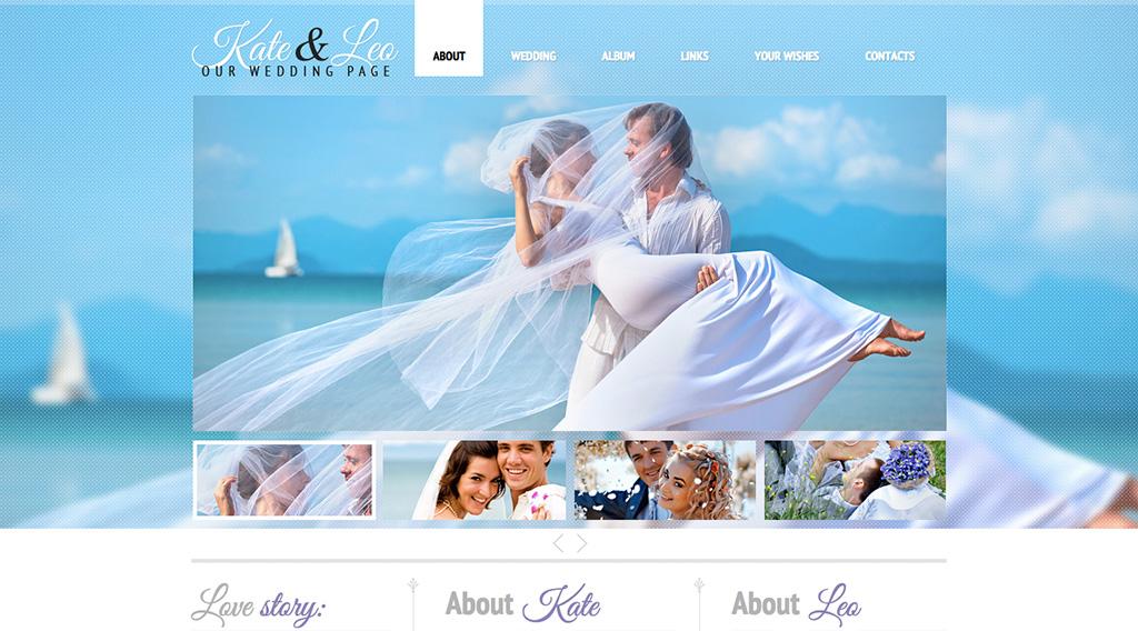 Потрясающий шаблон сайта на свадебную