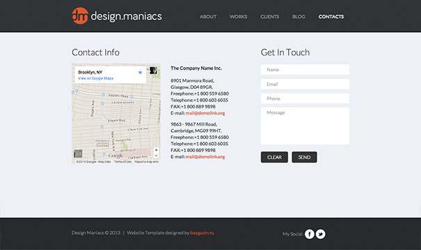 простые шаблоны сайтов html