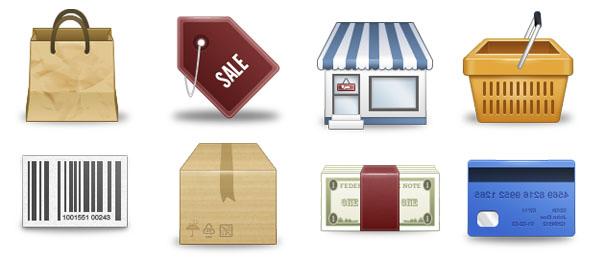 8 замечательных иконок для интернет-магазина размером 128×128 пикселей
