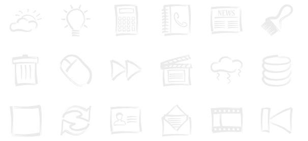 Монохромные рисованные под граффити иконки для сайта на любую тематику размером 128×128 пикселей