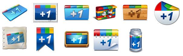 11 офигенных иконок на тему Google +1 размером 256×256 пикселей